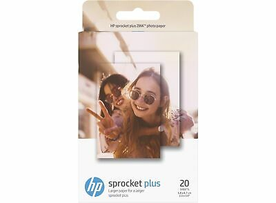 HP ZINK 2.3x3.4 Sticky-backed Photo Paper 20 sheet sprocket plus 2LY73A