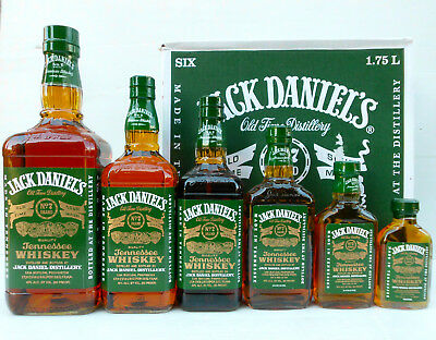 Jack Daniels Green Label Heritage Bottles Full Set- Discontinued & RARE!!!!!
