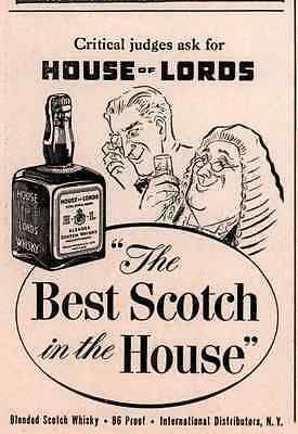 1947 ad HOUSE OF LORDS SCOTCH PERIWIG JUDGE MONOCLE HUMOROUS