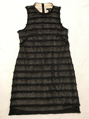 c6ca786f NEW J CREW Sheath Dress in Fringy Lace Black Sz 6 G1532 Sold Out ...