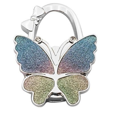 Butterfly Folding Hanger Holder Hook Handbag Bag Rhinestone Robe Hooks silver Bathroom Hardware