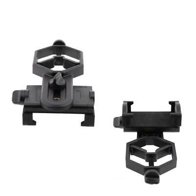 2 Pieces Mobile Phone Adapter Mount for Spotting Scope Binocular Monocular