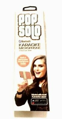 Karaoke Pop Solo Smartphone Bluetooth Karaoke Microphone Speaker Rose Gold-NEW