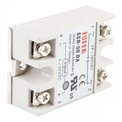 Relay Solid 50a/250v With Cover 3-32vdc State Output Ssr-50da Module 24-380vac