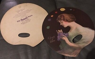 Vtg 1900's  Rexall DRUG STORE Fan Violet Dulce Ad W.F. Norris South Whitely IN