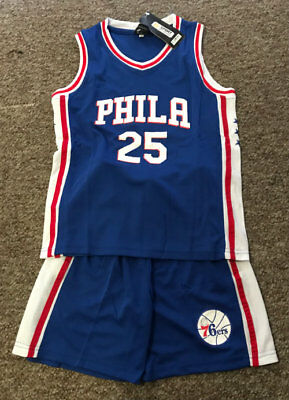 3a4dd949c KIDS BASKETBALL JERSEY  25 BEN SIMMONS PHILADELPHIA 76ers 1 SETS BLUE  TOP