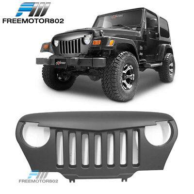 Fits 97-06 Jeep Wrangler TJ Utility 2Dr V1 Angry Bird Style Front Bumper Grille