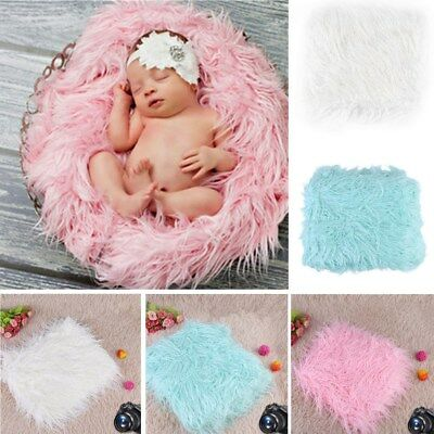 Newborn Baby Long Plush Blanket Basket Rug for Backdrop Photo Photography Prop