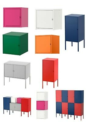 Ikea Lixhult Metal Storage Unit Boxes Pink Red White Green Grey Locker Shelf  sc 1 st  PicClick UK : pink storage unit  - Aquiesqueretaro.Com