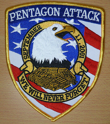 Memorial Patch - PENTAGON ATTACK September 11, 2001 - WE WILL NEVER FORGET