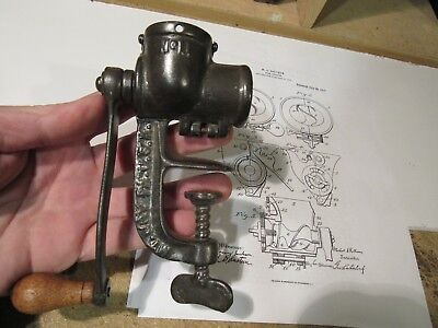 Original 1913 Rollman Food Chopper #11 Salesmans Sample Or Patent Model Look !!
