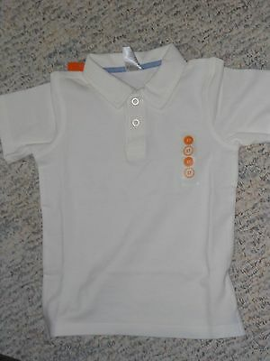 "NWT - Gymboree ""Picnic Party"" short sleeved ivory polo shirt - 18-24 mos boys"