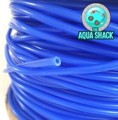 1/2-20m Blue Silicone Air Line 4/6mm Airline Tubing Pipe Pump Aquarium Pond Tube