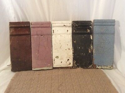 Antique Architectural Salvage Wood Plinth Blocks Base Trim Chippy Shabby