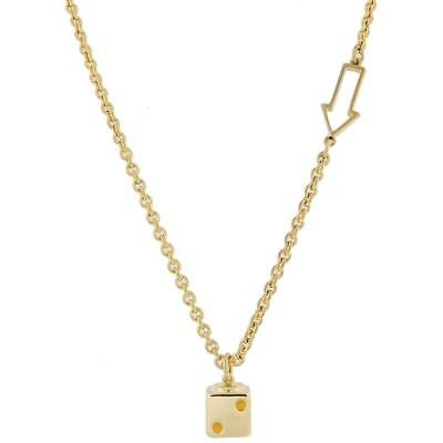 Marc by Marc Jacobs 7312 Womens Dicey Bow Tie Gold Pendant Necklace O/S BHFO