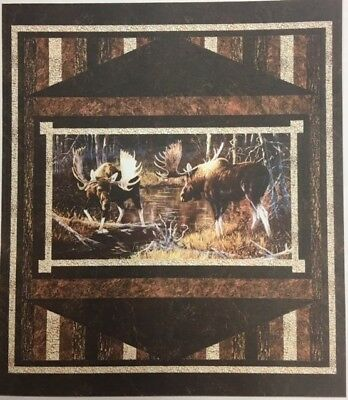 Prelude Majestic Moose Quilt Kit Stonehenge Northcott Naturescapes