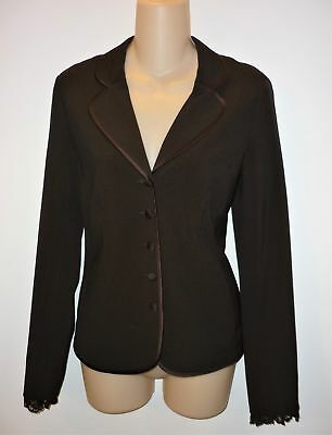 MOTHERHOOD Maternity Blazer Suit Jacket Career Work Brown Lace Trim Size S Small