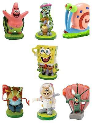 Spongebob Aquarium Ornament All Characters Fish Tank Kids Decoration Squidward