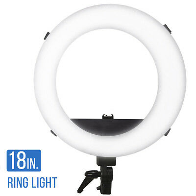 """Lusana Studio 18"""" 5600K 55W Dimmable Fluorescent Continuous Ring Video Light"""