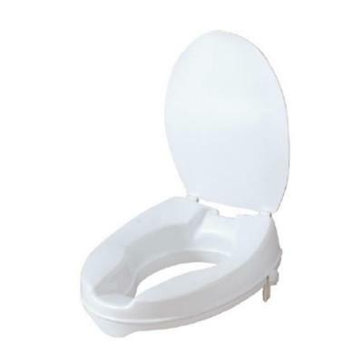 Max Mobility Raised Toilet Seat with Lid - Resistant to stains & odors