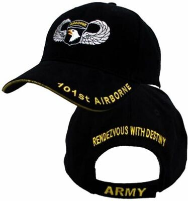 8f069562f NEW U.S.MILITARY ARMY 101st AIRBORNE HAT EMBROIDERED JUMP WINGS BALL CAP