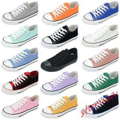 Hot Womens Oxfords Low Top Preppy Shoes Breathable Canvas Casual Runing Sneakers