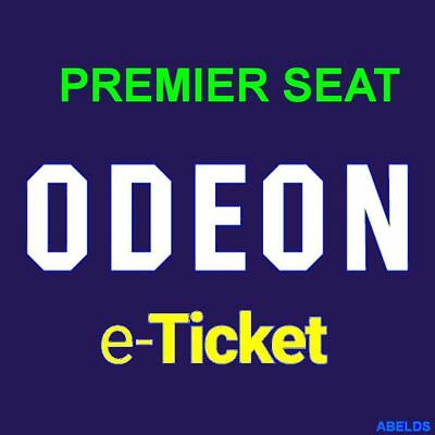 Odeon Cinema Ticket Adult PREMIER Seat Instant Code outside M25 Fast Delivery!!!
