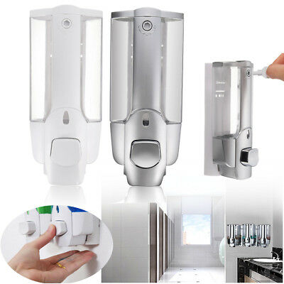 Wall Mount Home Bathroom Sanitizer Shampoo Soap Dispenser Shower Lotion Bottle