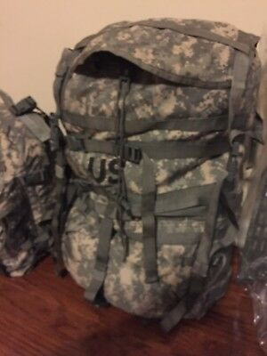 GENUINE US Military ACU MOLLE II Large Rucksack w frame+3 Day Assault Pack