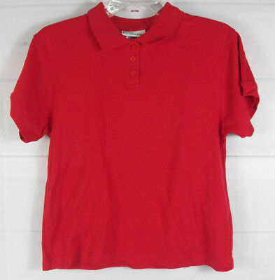 Classroom School Uniform Youth Red Collared Shirt