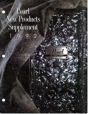 Pearl Drum Vintage 1992 New Products Catalog