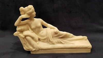 Sculpture Nude Paoline Borghese as Venus Victrix Figurine Paperweight Italy