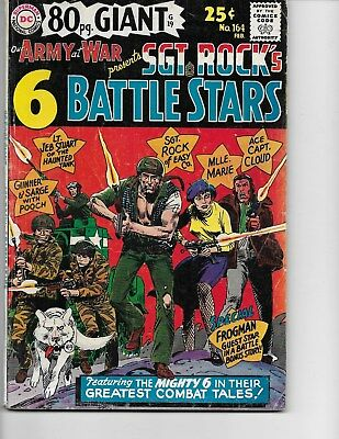 Our Army at War  #164 (80 Pg Giant #G19 Sgt Rock  FN/VF  7.0) Feb-1966, DC