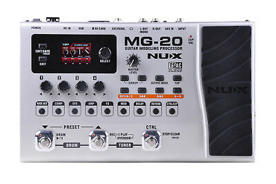 NuX MG20 Guitar Modeling Processor Multi FX Pedal Board - New