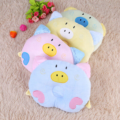 Lovely Pig Newborn Baby Memory Pillow Prevent Flat Head Anti Roll Support Neck