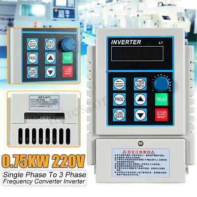 0.75KW 1HP Variable Frequency Drive Inverter Speed Control CNC Single To 3 Phase