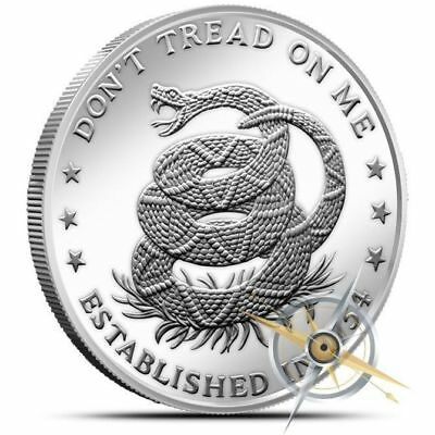 Don't Tread on Me - Eternal Vigilance 1 oz .999 Silver BU Round