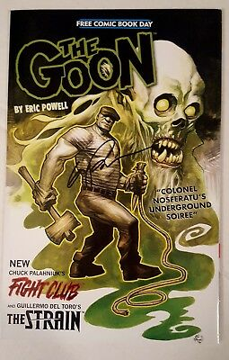 The Goon / Fight Club / The Strain #1 Fcbd 2015 Signed By Eric Powell W/ Coa Nm