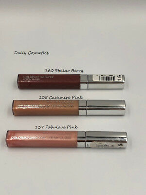Maybelline Colorsensational Cream Gloss 3 Shades