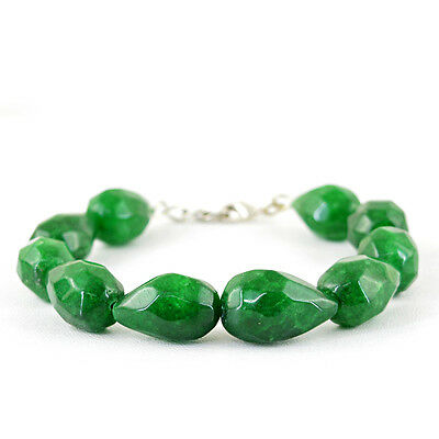 BEST OFFER FINEST 98.65 CTS EARTH MINED RICH GREEN EMERALD OVAL BEADS BRACELET