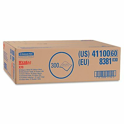 "Kimberly Clark Safety 41100 White WYPALL X70 Wipers, Flat Sheet Box, 14.9"" x of"