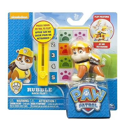 Paw Patrol Action Pack Pup Back Flip Rubble Pup Pup Boogie Board Children's Toy