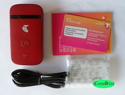 New Unlocked ZTE MF90 4G Wifi Modem Broadband Telstra Optus Vodafone Red