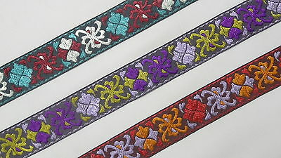"""wide By The Yard Jacquard Trim Woven Border Sew Ribbon T718 3.04 Cm 1.20/"""""""