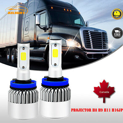 H11 LED Headlight Bulbs Kit For 2008-2016 Freightliner Cascadia Commercial Truck