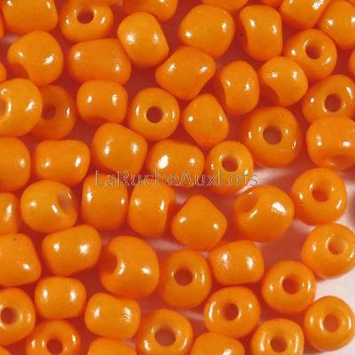 Perles de Rocailles en verre Opaque 4mm Orange 20g (6/0)