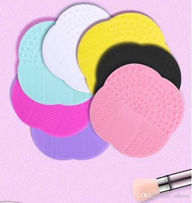 Silicone Makeup Brush Cleaner Cleaning Cosmetic Scrubber Board Mat Pad Tool- UK