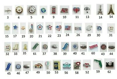 Floating Charm TRAVEL PATRIOTIC MILITARY for Glass Memory Lockets