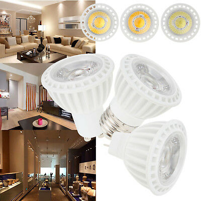 Dimmable LED COB Spotlight Bulb E27 E26 GU10 MR16 5W Lamp 12V 110V 220V Bright
