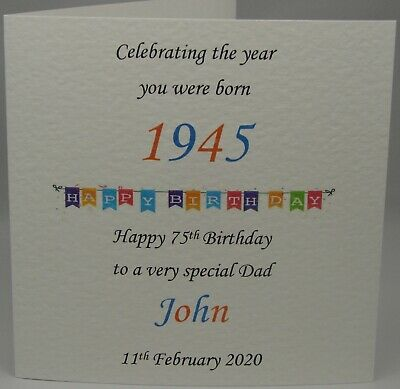 Personalised Male Birthday Card 18 21 30 40 50 60 65 70 75th Any Name Age Year
